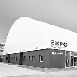 Capannoni ad arco per Expo