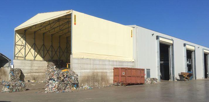 capannone kopron per compostaggio rifiuti