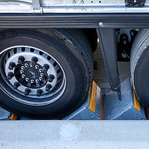 K1-CALEMATIC - Sistema a cunei singoli blocco veicolo