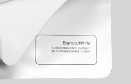 Telo PVC autoestinguente bianco