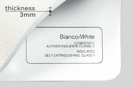 Telo PVC coibentato bianco