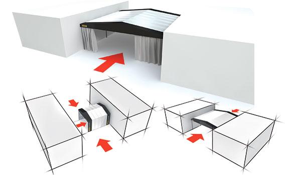 Capannoni mobili di collegamento