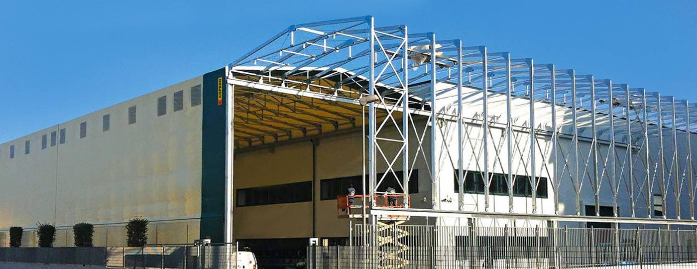 Struttura-in-acciaio-per-capannone-retrattile