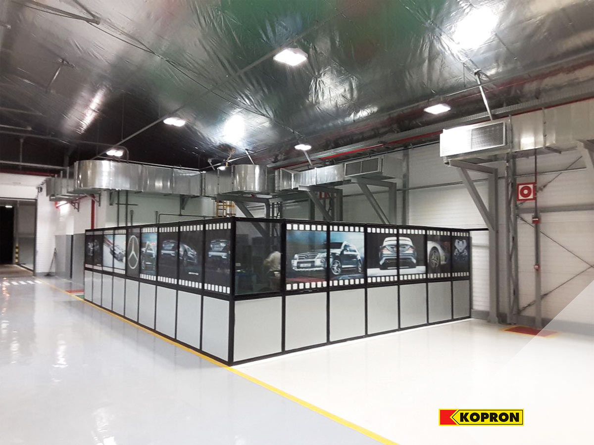 Interni-del-nuovo-capannone-prefabbricato-in-acciaio-Kopron-per-Mercedes