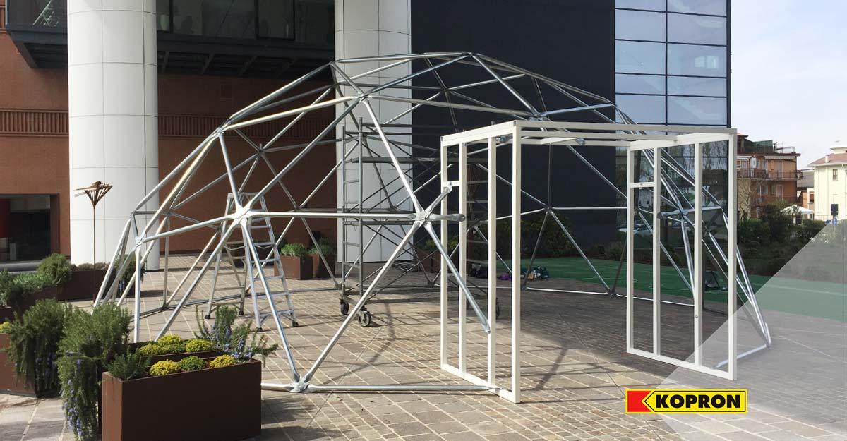 Struttura-in-acciaio-zincato-per-cupola-geodetica-Kopron