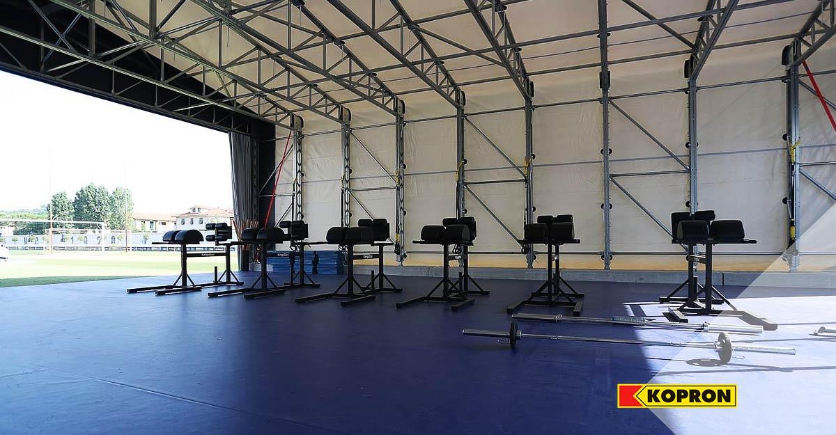 Attrezzatura-sportiva-Empoli-Calcio-nel-capannone-Kopron