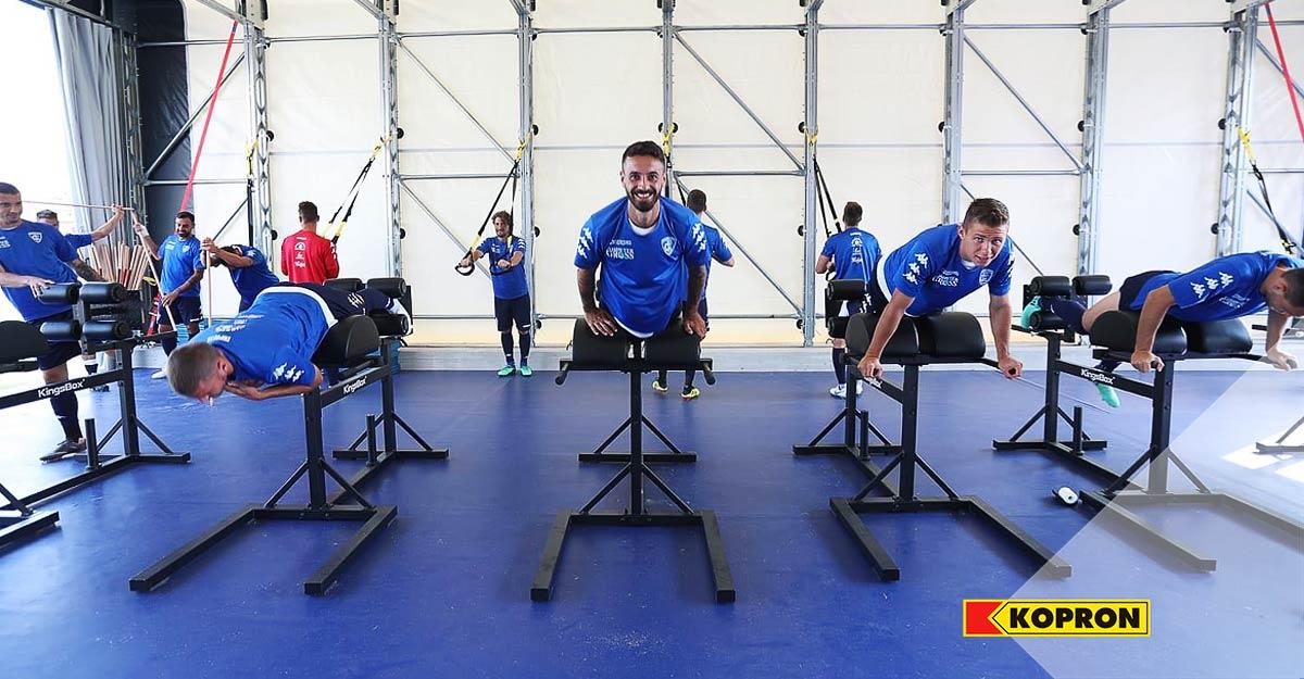 Capannone-mobile-Kopron-per-ritiro-calcio-Empoli