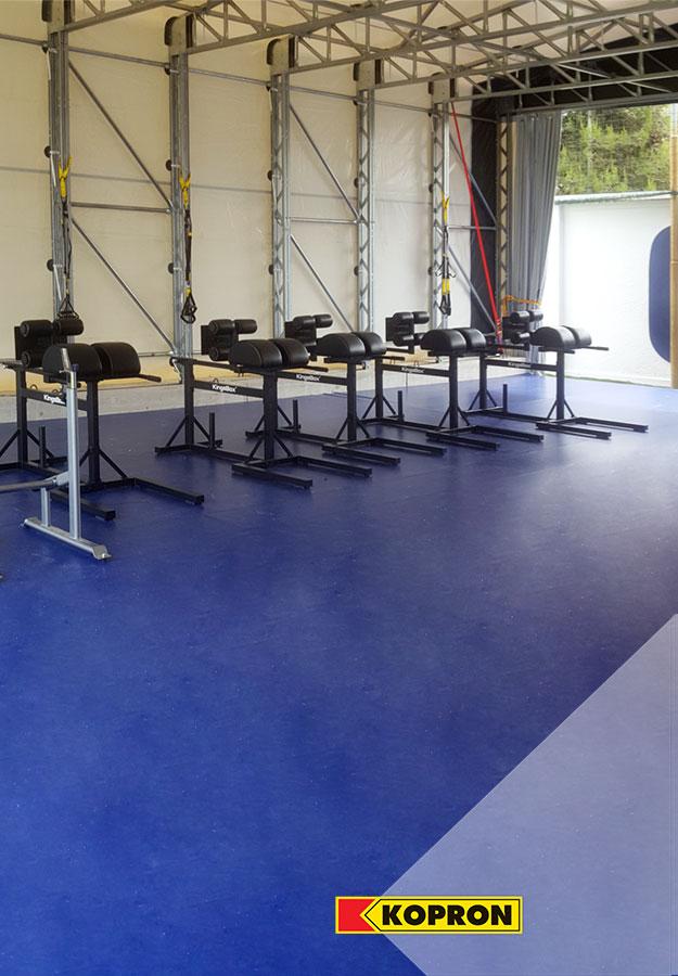 Palestra-mobile-Kopron-per-allenamenti-Empoli