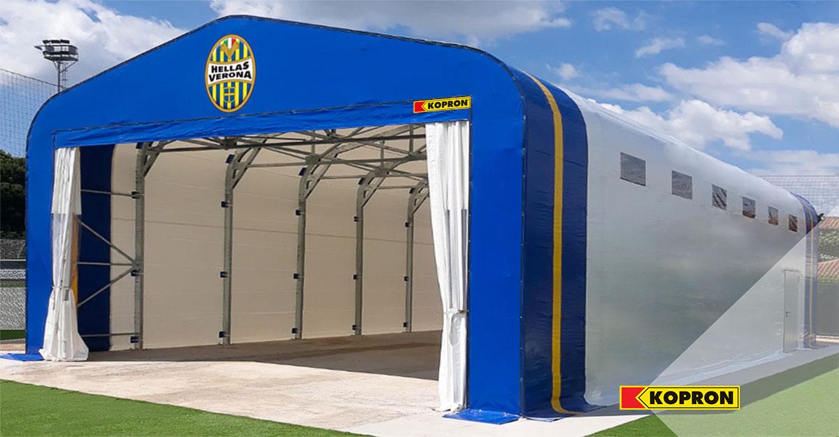 Hellas-Verona-palestra-mobile-Kopron-per-allenamenti