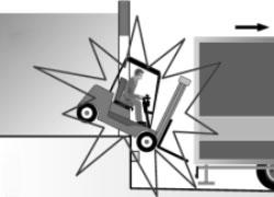 Caduta carrello durante partenza camion