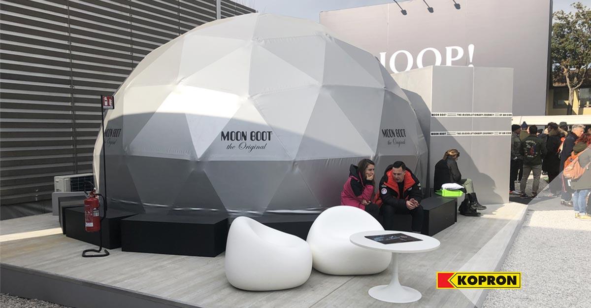 Cupola-geodetica-Kopron-per-evento-Moon-Boot