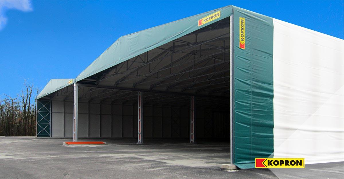 Due-capannoni-mobili-in-PVC-Kopron-presso-lo-stabilimento-Plastipol