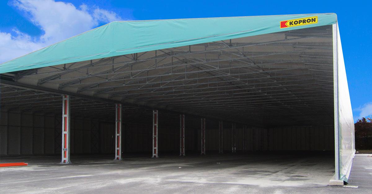 Bâtiments-de-stockage-PVC-doubles-latéraux-Kopron-pour-déchets-plastiques