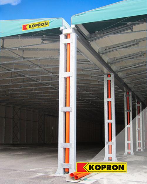 Bâtiments-de-stockage-en-PVC-Kopron-pour-le-recyclage-des-déchets