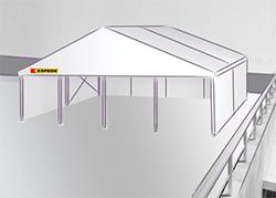 Tensostruttura roof-top