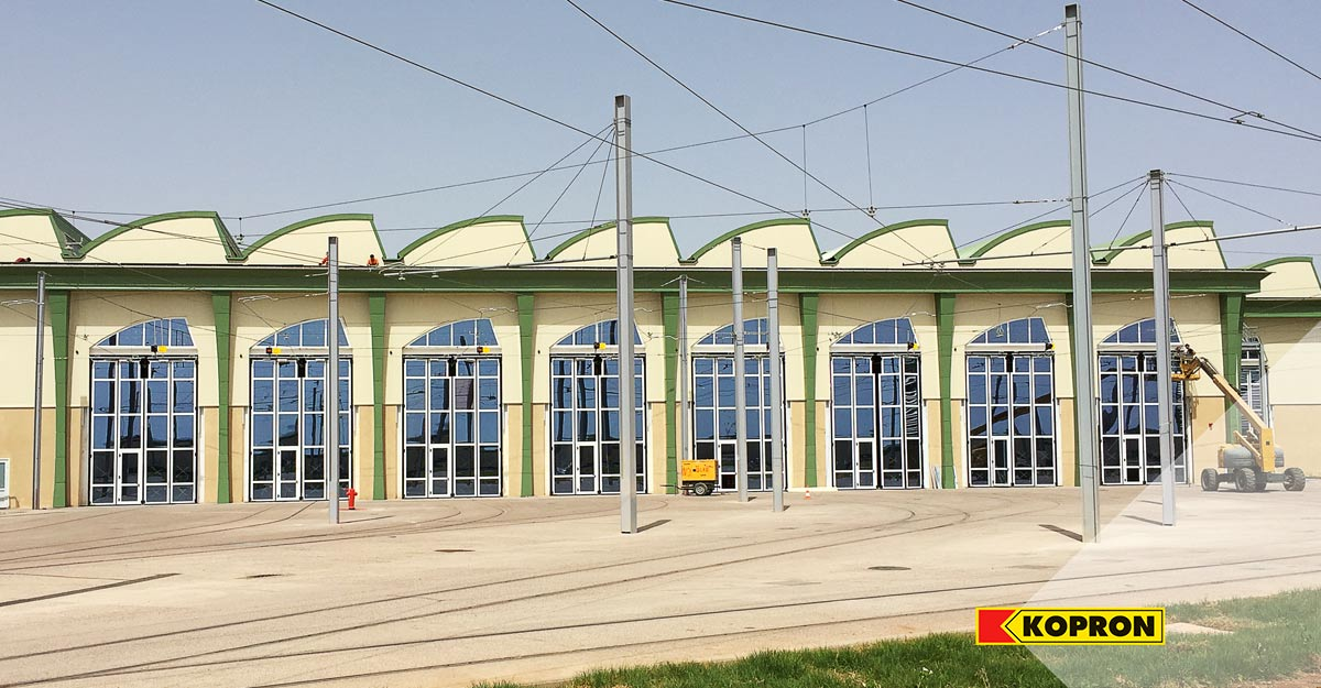 Kopron-glass-folding-doors-for-trams-in-Algeria