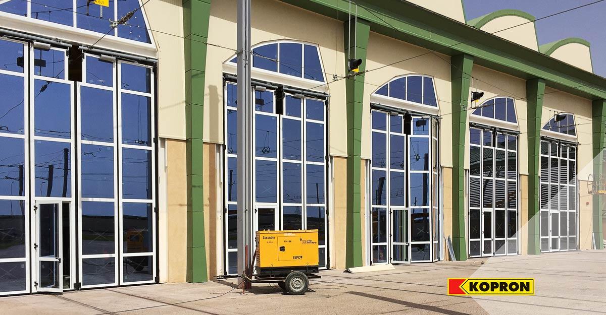 Made-to-measure-Kopron-glass-folding-doors-in-Algeria