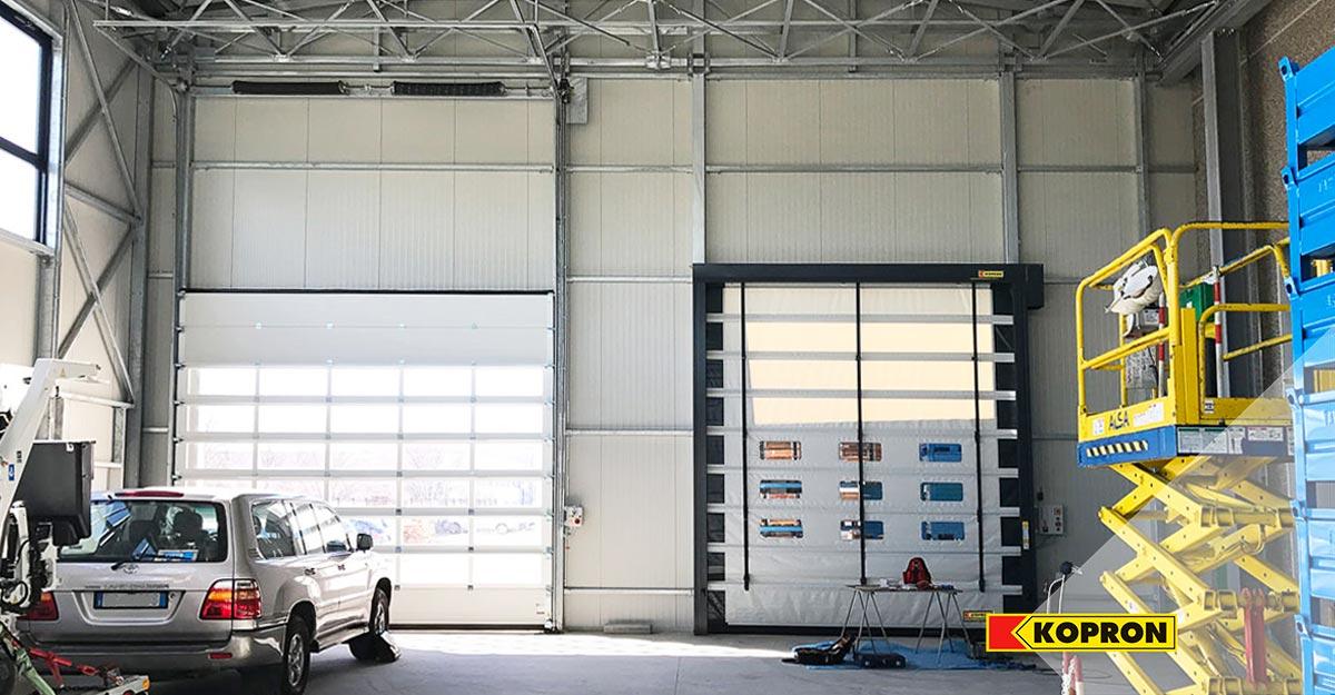 Kopron-Sectional-doors-and-High-speed-fold-up-door-for-Meter-Spa