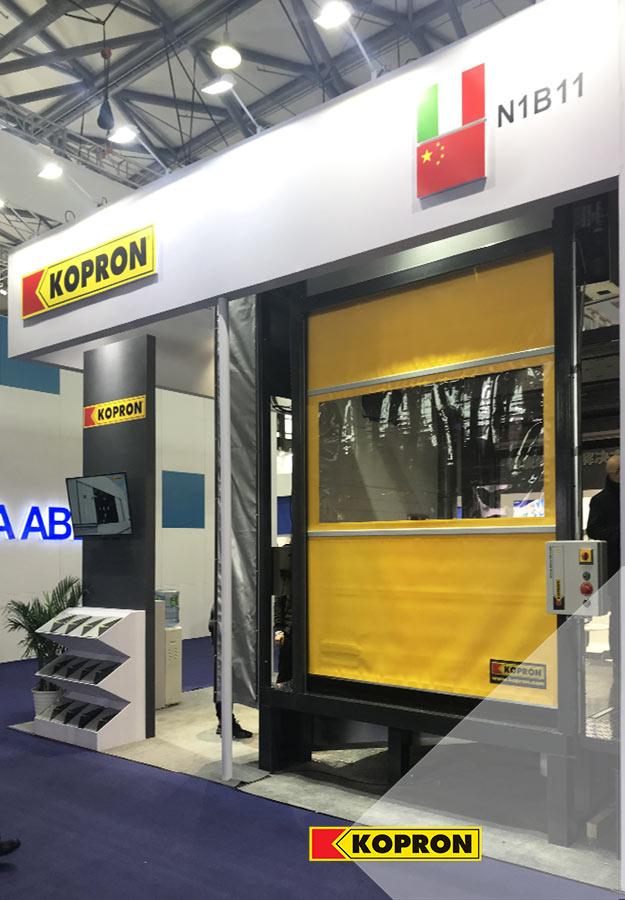 Kopron-high-speed-doors-at-R+T-Asia-fair